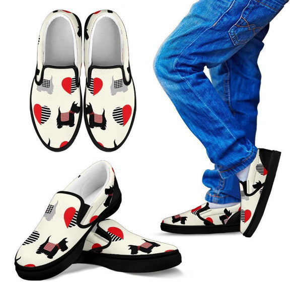 We Love Scottish Terriers Kids Slipons - BuyGearNow