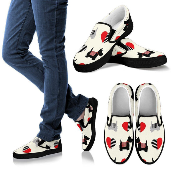 We Love Scottish Terriers Slip Ons & Casuals Men & Women - BuyGearNow