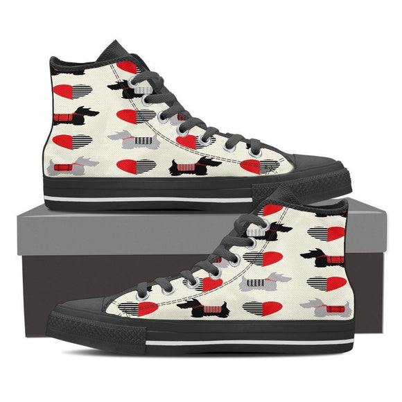We Love Scottish Terriers Sneakers, High, and Low Tops Men & Women - BuyGearNow
