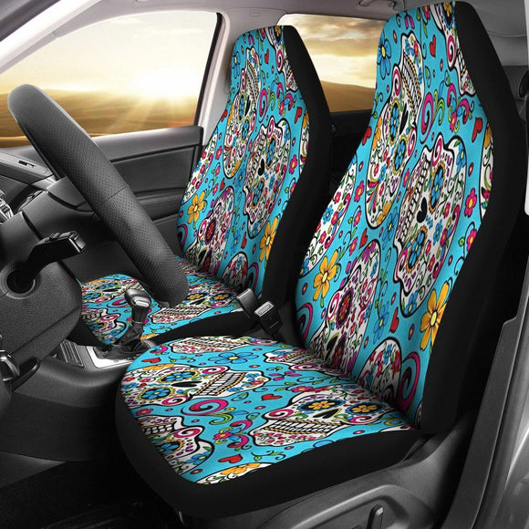 Sugar Skull Car Seat Covers - BuyGearNow