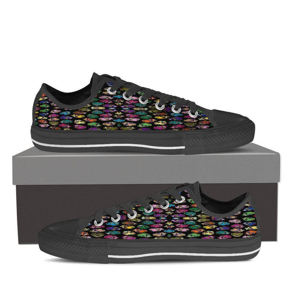 Sugar Skulls Men & Women Low Top Sneakers - BuyGearNow