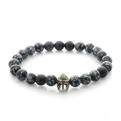 Warrior Gladiator Helmet Tiger Eye Bracelet - BuyGearNow