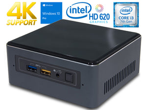 Refurbished Intel NUC7i3BNH, i3-7100U, 8GB RAM, 256GB SSD, Windows 10 Pro