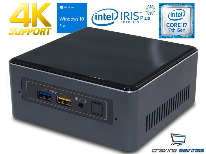 NUC7i5BNH Mini PC, i5-7260U 2.2GHz, 16GB RAM, 256GB SSD, Win10Pro