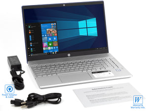 "HP Pavilion 15.6"" Touch Laptop, i5-8250U, 8GB RAM, 1TB SSD+1TB HDD, Win10Pro"