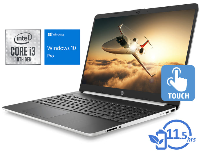 "HP 15, 15"" HD Touch, i3-1005G1, 8GB RAM, 256GB SSD, Windows 10 Pro"