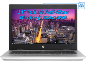 "HP ProBook 645 G4 Laptop, 14"" IPS FHD, Ryzen 7 2700U, 8GB RAM, 256GB SSD+1TB HDD, Win10Pro"