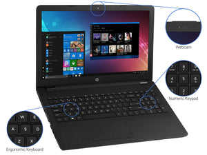 "Refurbished HP 15 , 15"" HD, N4000, 16GB RAM, 2TB SSD, DVDRW, Windows 10 Home"