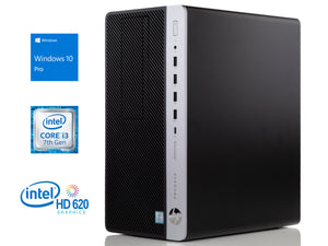 HP ProDesk 600 G3 Desktop, i3-7100 3.9GHz, 32GB RAM, 128GB SSD, Win10Pro