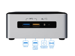 Intel NUC6i5SYH, i5-6260U, 8GB RAM, 256GB SSD +1TB HDD, Windows 10 Pro