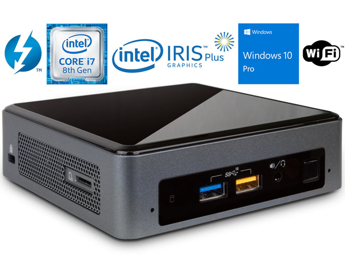 Refurbished Intel NUC8i7BEK, i7-8559U, 32GB RAM, 1TB SSD, Windows 10 Pro