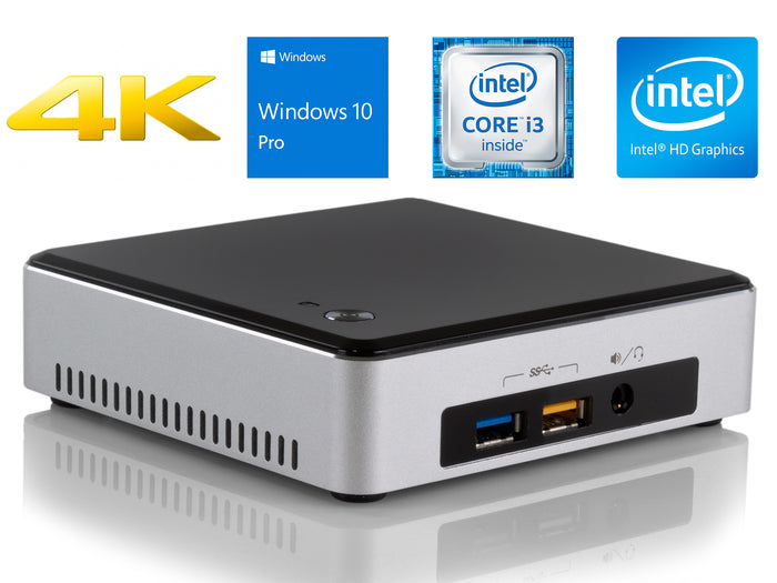 Intel NUC5i3RYK, i3-5010U, 4GB RAM, 256GB SSD, Windows 10 Pro