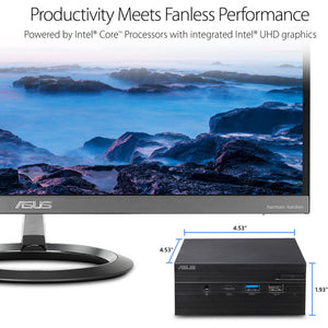 ASUS VivoMini PN60 Mini PC/HTPC, i3-8130U 2.2GHz, 8GB RAM, 512GB SSD+1TB HDD, Win10Pro
