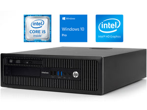 HP EliteDesk 800 G1 SFF Desktop, i5-4570, 8GB RAM, 512GB SSD, Win10Pro
