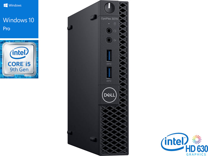 Dell OptiPlex 3070, i5-9500T, 16GB RAM, 512GB SSD +1TB HDD, Windows 10 Pro