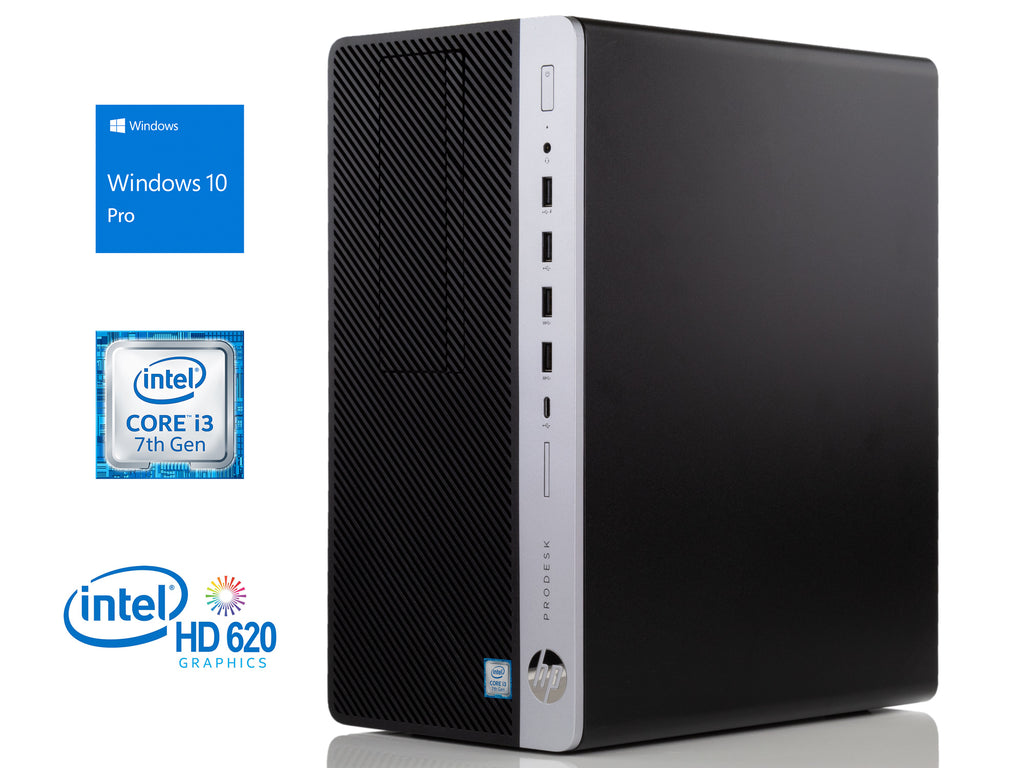 HP ProDesk 600 G3 Desktop, i3-7100 3.9GHz, 16GB RAM, 256GB SSD, Win10Pro