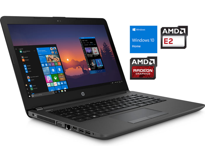 "HP 245 G6 14"" HD Laptop, AMD E2-9000E, 8GB RAM, 128GB SSD, Windows 10 Home"