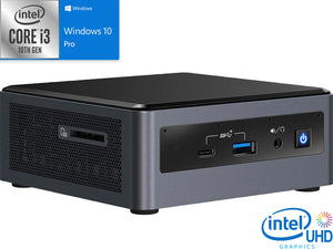 Intel NUC10i3FNH, i3-10110U, 8GB RAM, 2TB SSD +1TB HDD, Windows 10 Pro