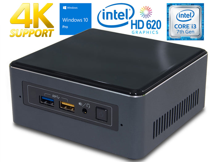 Refurbished Intel NUC7i3BNH, i3-7100U, 32GB RAM, 256GB SSD +1TB HDD, Windows 10 Pro