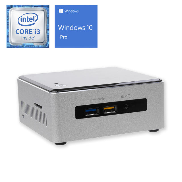 Intel NUC6i3SYH, i3-6100U, 16GB RAM, 2TB SSD, Windows 10 Pro