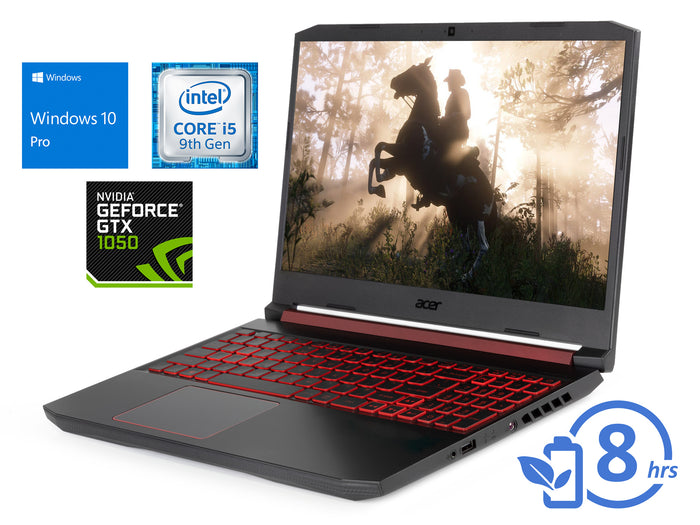 "Acer 5, 15"" FHD, i5-9300H, 64GB RAM, 2TB SSD, GTX 1050, Windows 10 Pro"