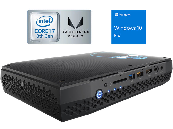Intel NUC8i7HNK Mini Desktop, i7-8705G, 16GB RAM, 256GB NVMe, Windows 10 Pro