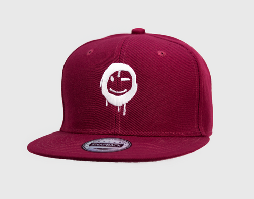 Burgundy - White Hat