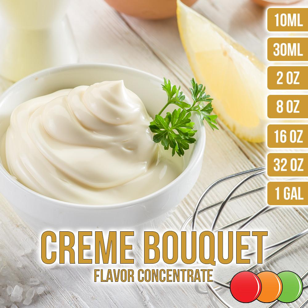 Creme (Cream) Bouquet Flavored Liquid Concentrate OOOFLAVORS.COM A smooth and extra creamy whipped cream flavor.