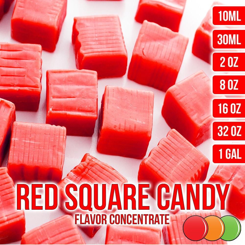 Red Square Candy Type Flavored Liquid Concentrate