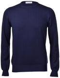 Gran Sasso Fresh Cotton Vintage Wash Crewneck Sweater - Frank Stella Clothiers