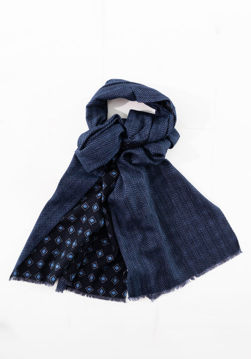 Pure Wool Reversible Scarf