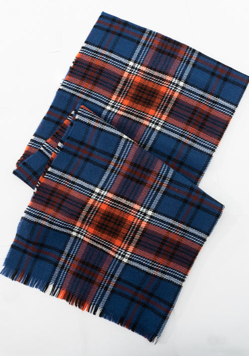 Pure Wool Plaid Scarf