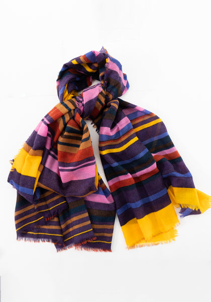 Pure Wool Stripe Scarf