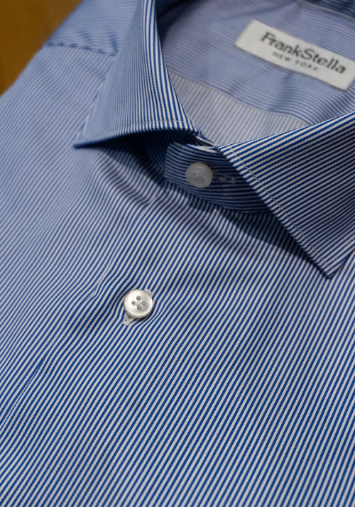 Blue Fine Stripe Sport Shirt