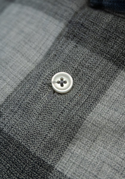Grey Plaid Sport Shirt