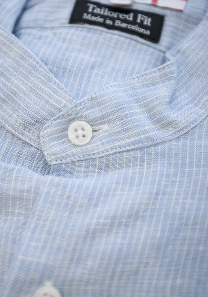 Frank Stella Clothiers Banded Collar Sport Shirt - Frank Stella Clothiers
