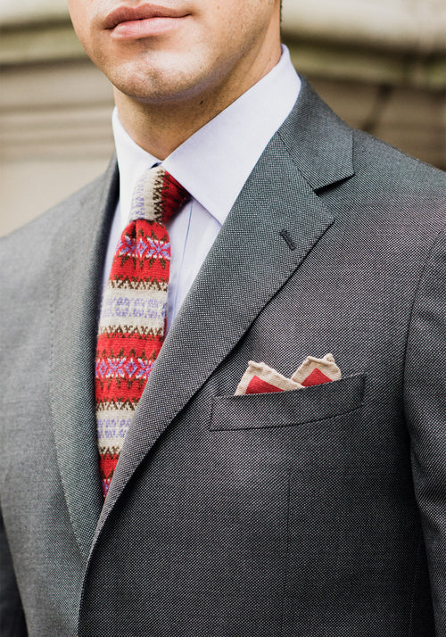 Frank Stella Tailored Fit Birdseye Suit - Frank Stella Clothiers