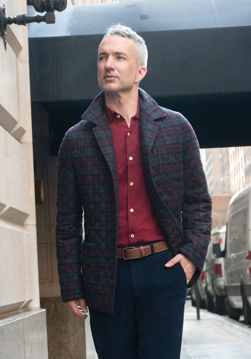 Plaid Italian Quilted Jacket