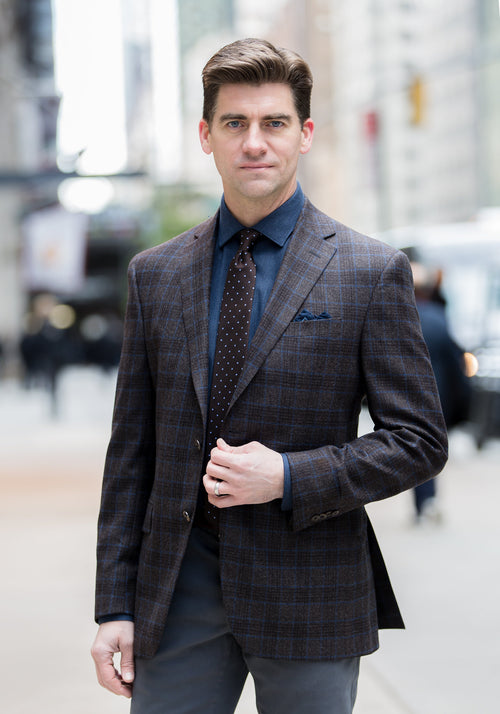 Jack Victor Brown Plaid Sport Coat - Frank Stella Clothiers