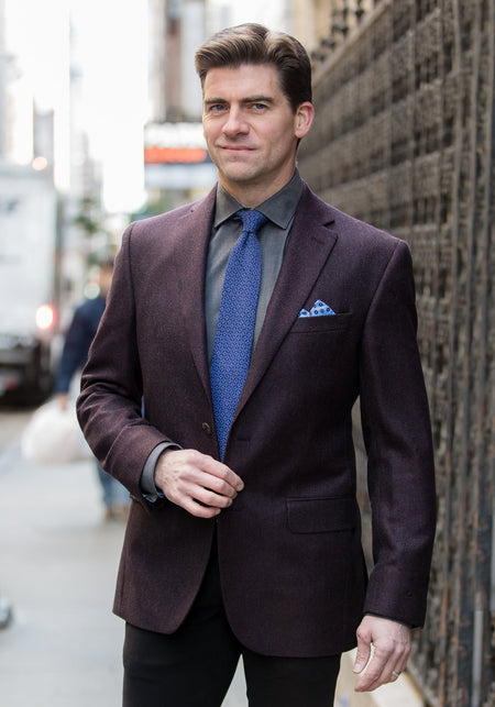 Harris Tweed Solid Sport Coat