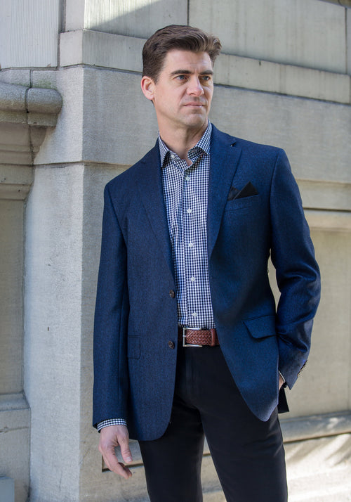 Blue Herringbone Sport Coat
