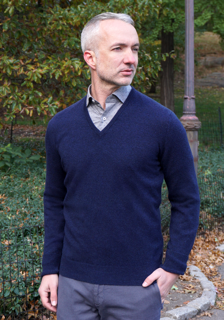 Cashmere, Silk & Linen Long Sleeve Crew