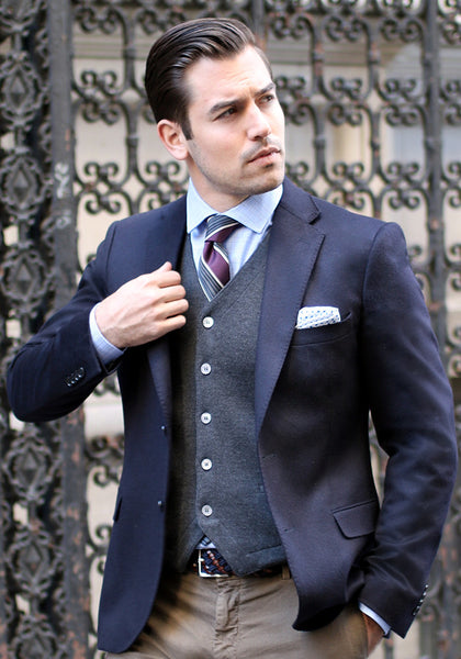 Pure Cashmere Tailored Fit Sport Coat