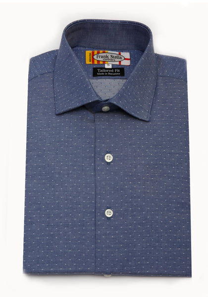 Chambray Dot Sport Shirt
