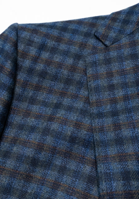 Zegna Navy Check Sport Coat