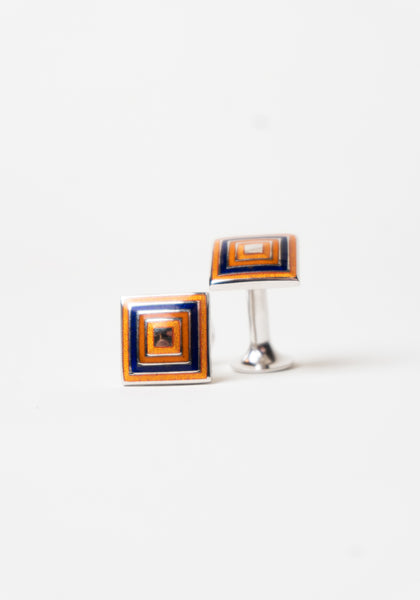 Codis Maya Orange Square Cufflinks - Frank Stella Clothiers