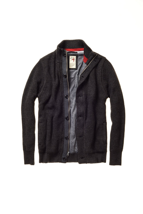 Wool Deck Zip Cardigan