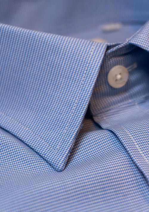 Frank Stella Blue Check Dress Shirt - Frank Stella Clothiers