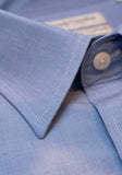 Frank Stella Blue End on End Dress Shirt - Frank Stella Clothiers