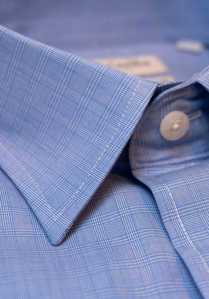 Frank Stella Blue Plaid Slim Fit Dress Shirt - Frank Stella Clothiers
